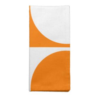 Orange&Off-White Graphic Design, Square&Circle Napkin