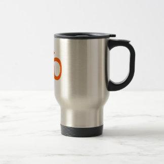Orange Om or Aum ॐ.png Travel Mug