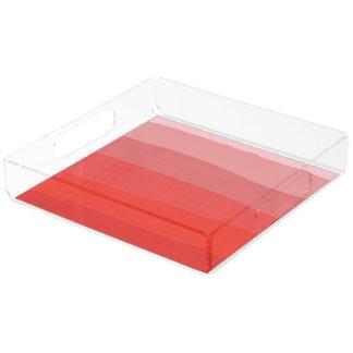 Orange Ombre Acrylic Trays