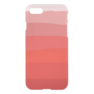 Orange Ombre Clear iPhone Case