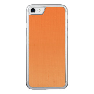 Orange Ombre Maple Wood Carved iPhone 8/7 Case