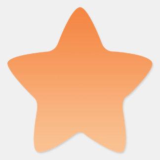 Orange Ombre Star Sticker