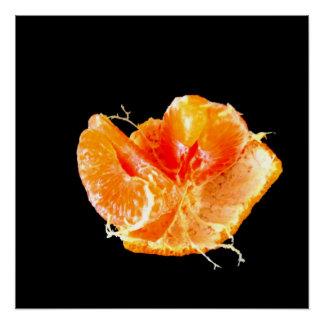 Orange on Black Still Life Poster Art Print Series