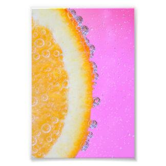 Orange on Pink Art Photo