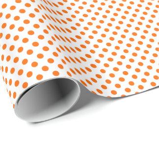 Orange on White Polka Dot Wrapping Paper