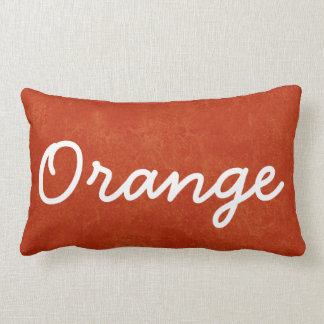 ORANGE Orange Custom Name Gift Collection Lumbar Cushion