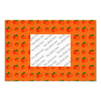Orange oranges pattern photo print