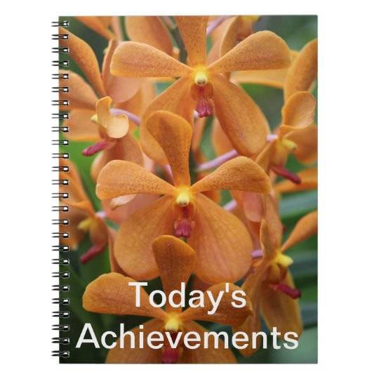 Orange Orchid Notebook