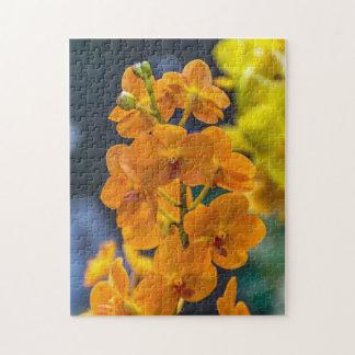 Orange orchids photo puzzle