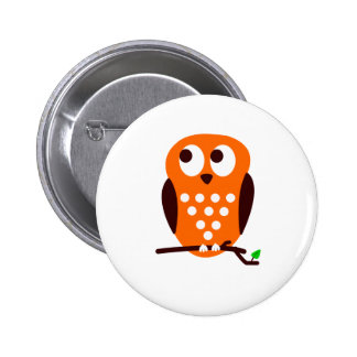 Orange Owl Pin