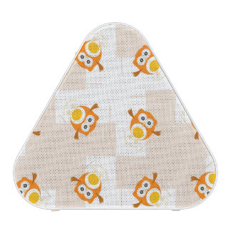 Orange Owl Illustration Pattern