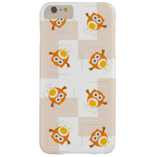 Orange Owl Illustration Pattern Barely There iPhone 6 Plus Case