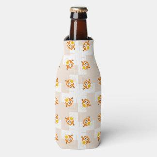 Orange Owl Illustration Pattern Bottle Cooler