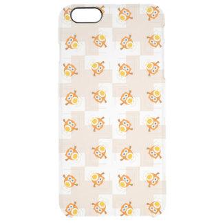 Orange Owl Illustration Pattern Clear iPhone 6 Plus Case
