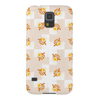 Orange Owl Illustration Pattern Galaxy S5 Cover