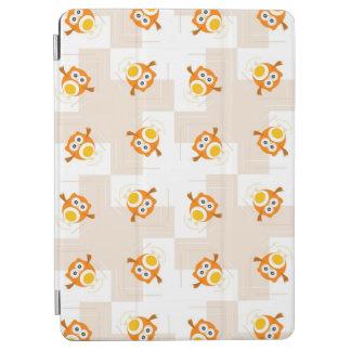 Orange Owl Illustration Pattern iPad Air Cover