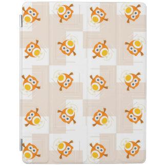 Orange Owl Illustration Pattern iPad Cover