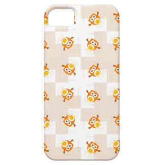 Orange Owl Illustration Pattern iPhone 5 Case