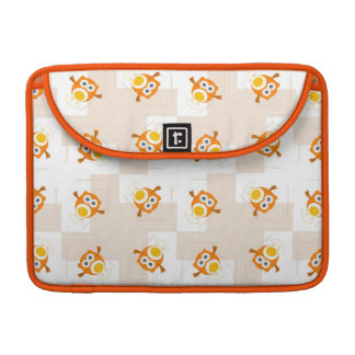 Orange Owl Illustration Pattern MacBook Pro Sleeve