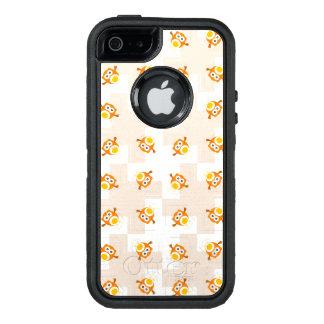 Orange Owl Illustration Pattern OtterBox Defender iPhone Case