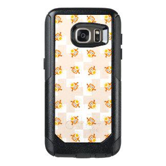 Orange Owl Illustration Pattern OtterBox Samsung Galaxy S7 Case