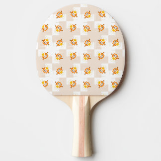 Orange Owl Illustration Pattern Ping Pong Paddle