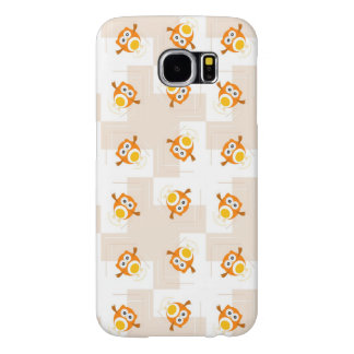Orange Owl Illustration Pattern Samsung Galaxy S6 Cases