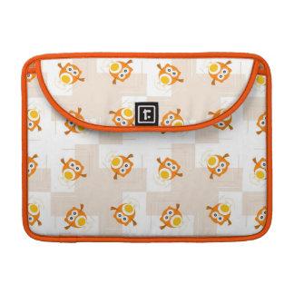 Orange Owl Illustration Pattern Sleeve For MacBook Pro