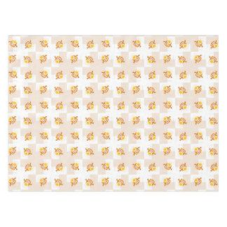 Orange Owl Illustration Pattern Tablecloth