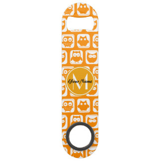 Orange Owls Custom Monogram