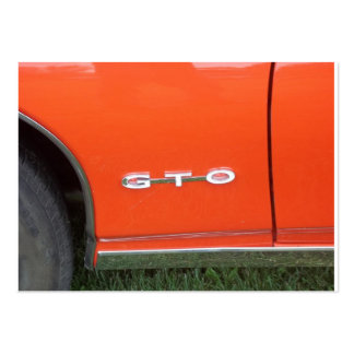 Orange Paint on classic car GTO Business Cards
