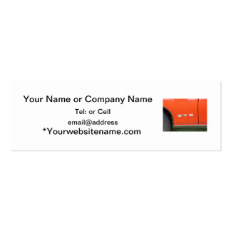 Orange Paint on classic car GTO Business Card Template
