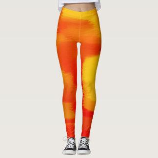 Orange Paint Splatter Leggings