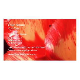 Orange Painted petals flowers Business Card Templates