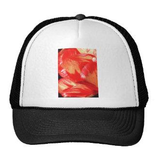 Orange Painted petals flowers Hats