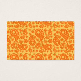 Orange Paisley. Business Card
