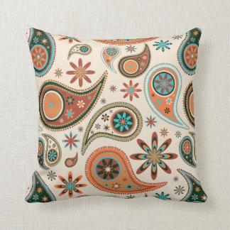 Orange Paisley Cushion