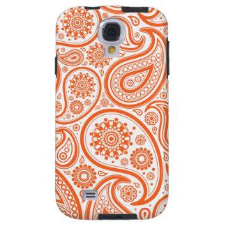 Orange Paisley Floral Pattern Galaxy S4 Case