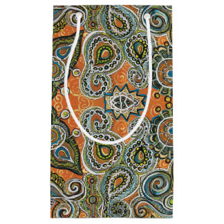 orange paisley gift bag