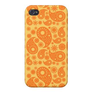 Orange Paisley. iPhone 4/4S Cover