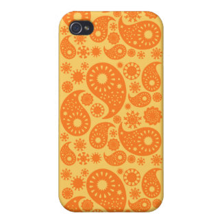 Orange Paisley. Covers For iPhone 4