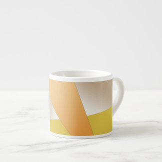 Orange, Pale Brown, Mustard Espresso Mug