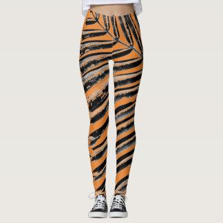 Orange Palm Leggings