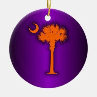 Orange Palmetto Christmas Ornament