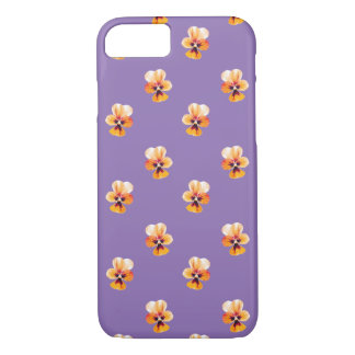 orange pansies iPhone 7 case