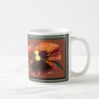 Orange Pansy Mug