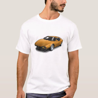 Orange Pantera on White T-Shirt