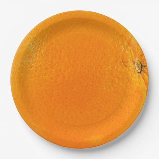 Orange Paper Plate