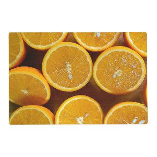 Orange Paradise, Placemats Laminated Laminated Place Mat