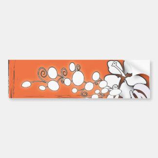 Orange Passion Flower Hawaii  Beach Wedding Bumper Sticker